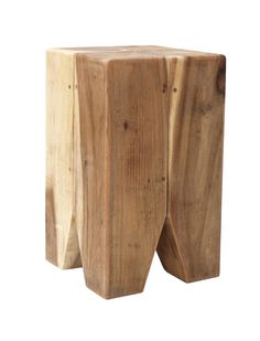 Strong and robust, this suar wood stool will make a gorgeous addition to any home with a rustic-style interior.