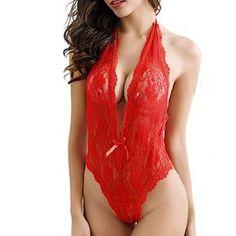 ea0627d7c0 Sexy Women Plus Size Lace Babydoll Underwear Lingerie Teddy Lingerie