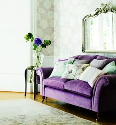 i would love to have a purple sofa