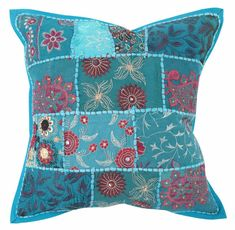 This is a Sky Blue Color Brocade Silk Fabric Cushion Cover. - Pillow insert is not included. - This cushion cover has one zipper closure on the back side. Colourful Bedroom, Bedroom Colors, Cushion Fabric, Silk Fabric, Pillow Inserts, Boho Decor, Ethnic, Cushions, Throw Pillows