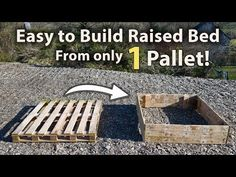 How to Build a Raised Bed from 1 Pallet! (FREE and Easy) - Garden Care, Garden Design and Gardening Supplies Raised Bed Frame, Raised Bed Diy, Making Raised Beds, Cottage Rose, Above Ground Garden, Plants For Raised Beds, Raised Bed Garden Design, Cheap Raised Garden Beds, Pallets Garden