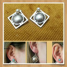 Silver Stud Earrings Stud Earrings Minimalist earring Boho