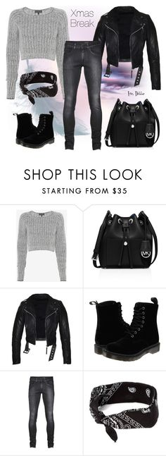 """""""Xmas Break"""" by debbie-michailides ❤ liked on Polyvore featuring rag & bone, MICHAEL Michael Kors, Dr. Martens and claire's"""