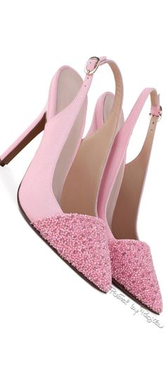 Georges Hobeika ~ Spring Pink Crystal Toe Pumps, 2015 via Regilla