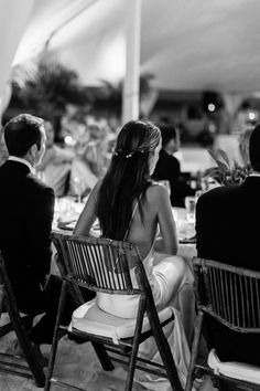 The couple during the speeches.