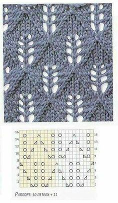 """Ажурные узоры спицами """"Candle Light - lots of lace patterns, not in English but with charts. Now I just need to learn to understand lace knitting charts. Lace Knitting Patterns, Knitting Stiches, Knitting Charts, Lace Patterns, Knitting Needles, Crochet Stitches, Hand Knitting, Stitch Patterns, Knitting Projects"""