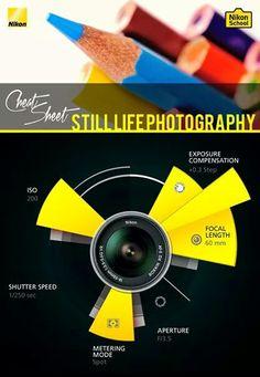 Still life photography cheat sheet