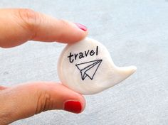 White brooch pin speech bubble polymer clay by madamaRobe on Etsy, €13.00