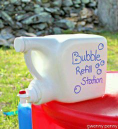 Good idea.... I say go all out though with decorating the jug.