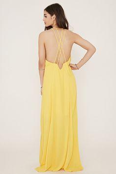 Crisscross-Back Maxi Dress