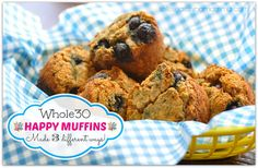 "Muffins on the Whole30??? YES!! It's my secret to detox survival!! NO sugar! NO grain flours! NO dairy! Lot's of ""mix-in"" options! www.solesearchingmamma.com"