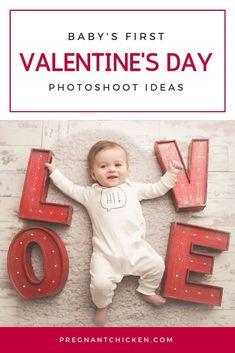 Baby's First Valentine's Day Photo Ideas - Pregnant Chicken Valentines Day Photos, Valentine Theme, Newborn Baby Care, Newborn Shoot, New Parents, New Moms, Pregnancy Photos, Baby Photos, Baby Hacks
