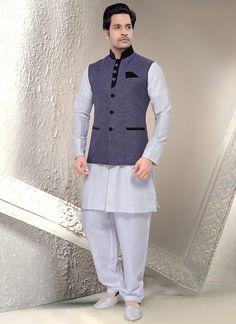 Mind-blowing Blue Jute Modi Jacket