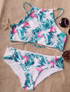 SHARE & Get it FREE   High Neck Halter Tropical BikiniFor Fashion Lovers only:80,000+ Items • New Arrivals Daily Join Zaful: Get YOUR $50 NOW!