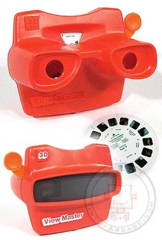RED 3-D REEL VIEW MASTER