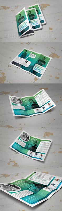 Mulo Business Trifold Brochure Template PSD Brochure Design - Trifold brochure template psd