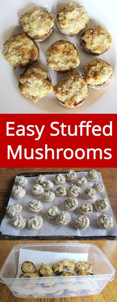Easy Stuffed Mushrooms - these yummy little mushrooms are a hit of every party! Simply amazing! | MelanieCooks.com
