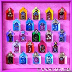 """ॐ HAVELI BLESSINGS ॐ Divine Art of recycled matchboxes for treasure hunters only! ♡ Haveli Temple Art at Milagros Mundo """"Funky Fairtrade - Hippy Chic"""""""