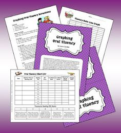 Corkboard Connections Archive: Graphing Oral Fluency Freebie