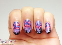 Sunset nails with a twist.