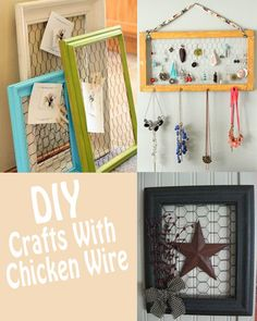 Are you looking to add some crafty decor in your home? There are several DIY crafts you can make with a frame & chicken wire. This tutorial will walk you through the simple steps to make a picture frame Chicken Wire Crafts, Chicken Wire Frame, Cute Crafts, Creative Crafts, Crafts To Make And Sell, Diy And Crafts, Wood Animals, Picture Frame Crafts, Picture Frames