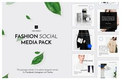 Fashion Social Media Pack By Uidea (affiliate)