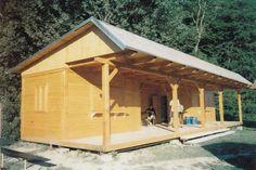 dřevostavba - posezení, pergola