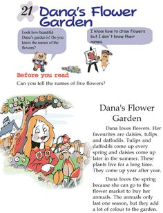 Grade 2 Reading Lesson 21 Short Stories - Dana's Flower Garden - Reading Literature Simple Stories For Kids, English Stories For Kids, Moral Stories For Kids, English Story, Reading Stories, Kids English, 2nd Grade Short Stories, Story For Grade 1, Short Stories For Kids