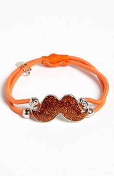 'my stache' ponytail holder - would love this!!