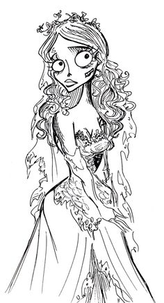 Corpse Bride Coloring Pages Request as print More