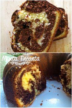 Bolo Mármorem massa fofíssima chocolate com baunilha marmorizada. Receita para lá de especial, Macia sem ser seca, fofinha e úmida