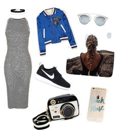 """""""Untitled #9"""" by ellenjang on Polyvore featuring Topshop, Maje, NIKE, Betsey Johnson, Christian Dior and Miss Selfridge"""