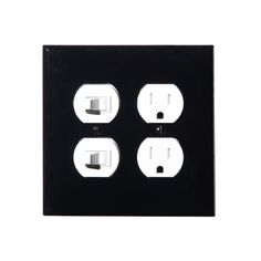 LEVITON/Wallplate 2-gang 2-duplex black http://www.generalview.net/products/detail.php?product_id=299