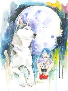 """Lora-Zombie-illustrations-1 """"Ta vendo aquela Lua, que brilha lá no céu, até parece um queijo e nós aqui com fome... Se ela cair, nós come, se ela cair, nós come!!!"""""""
