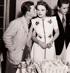 6/10/30 Judy Garland's 18th birthday Mickey Rooney & Jackie Cooper