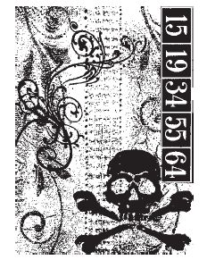Tim Holtz Components Collection - Skull - COM003 Rubber Cling Mounted Stamp size 85 x