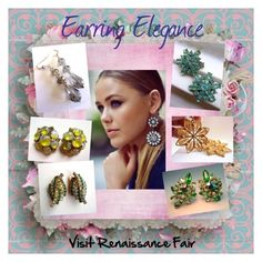 """""""Earring Elegance"""" by renaissance-fair ❤ liked on Polyvore"""