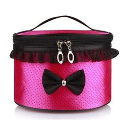 Lace Makeup Bag Cosmetic Bag Travel Wash Portable Round Storage Bag for Women