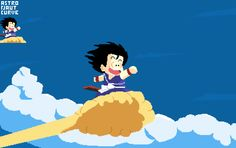 Goku on his magic cloud! @Pixel_Dailies #clouds #pixelart #pixel_dailies