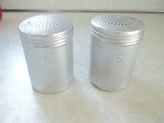 Vintage Aluminum Salt and Pepper Shakers by TheHoneysuckleTree, $5.00