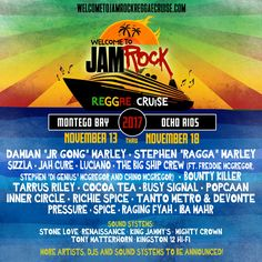 Welcome to Jamrock Cruise 2017 performers announced