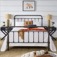 Shop Giselle Antique Graceful Dark Bronze Victorian Iron Bed by iNSPIRE Q Classic - Overstock - 7720291 - Queen Antique Iron Beds, Wrought Iron Beds, Rod Iron Beds, Black Metal Bed Frame, King Metal Bed Frame, Metal Bed Frames, Metal Beds, Black Queen Bed Frame, Cast Iron Bed Frame