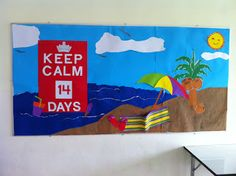 Keep calm end of the year count down bulletin board.