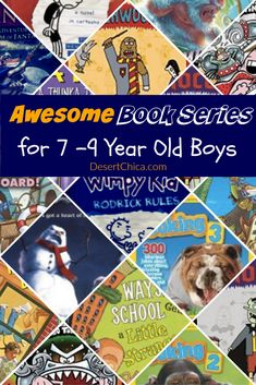 Awesome Books Series for 7 - 9 Year Old Boys. If your child likes diary of the wimpy kid, don't miss these other book ideas. Books For 7 Year Old Boys, Book Series For Boys, Popular Book Series, 4 Year Old Boy, Popular Books, 2nd Grade Books, Second Grade, Activities For Boys, Summer Activities