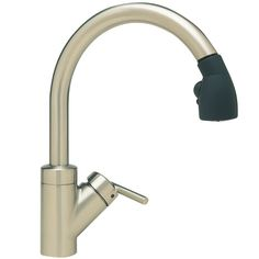 blanco b440617 rados pullout spray kitchen faucet satin nickel black