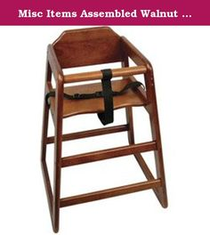 """Misc Items Assembled Walnut High Chair (06-0755) Category: High Chairs. Item #: 06-0755. Improved hardwood construction. Stackable. Assembled or knocked down. 18 1/2""""L x 19 1/2""""W x 29""""H Customers also search for: Restaurant Supplies\Dining Room Supplies\High Chairs and Booster Seats\High Chairs restaurant equipment, kitchen supplies Discount Assembled Walnut High Chair , Buy Assembled Walnut High Chair , Wholesale Assembled Walnut High Chair , 08808730010, 06-0756, Furniture -High Chairs."""