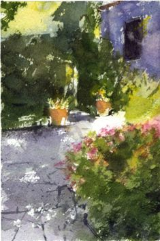 Sherry Schmidt - Small watercolor for a 20-30 minute challenge, 6x4