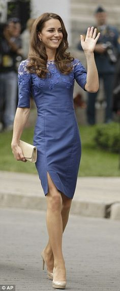 Famous fan: The Duchess of Cambridge loves a trusty pair of LK Bennett heels, especially her nude pair