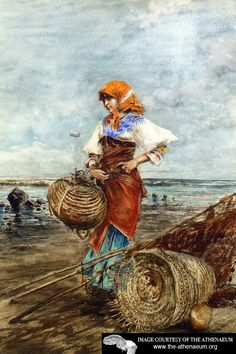 Gathering Cockles at the Seashore  Eugene de Blaas -