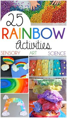 25 Rainbow Activities For Kids   Art, Sensory Activities, Science Experiments & more!